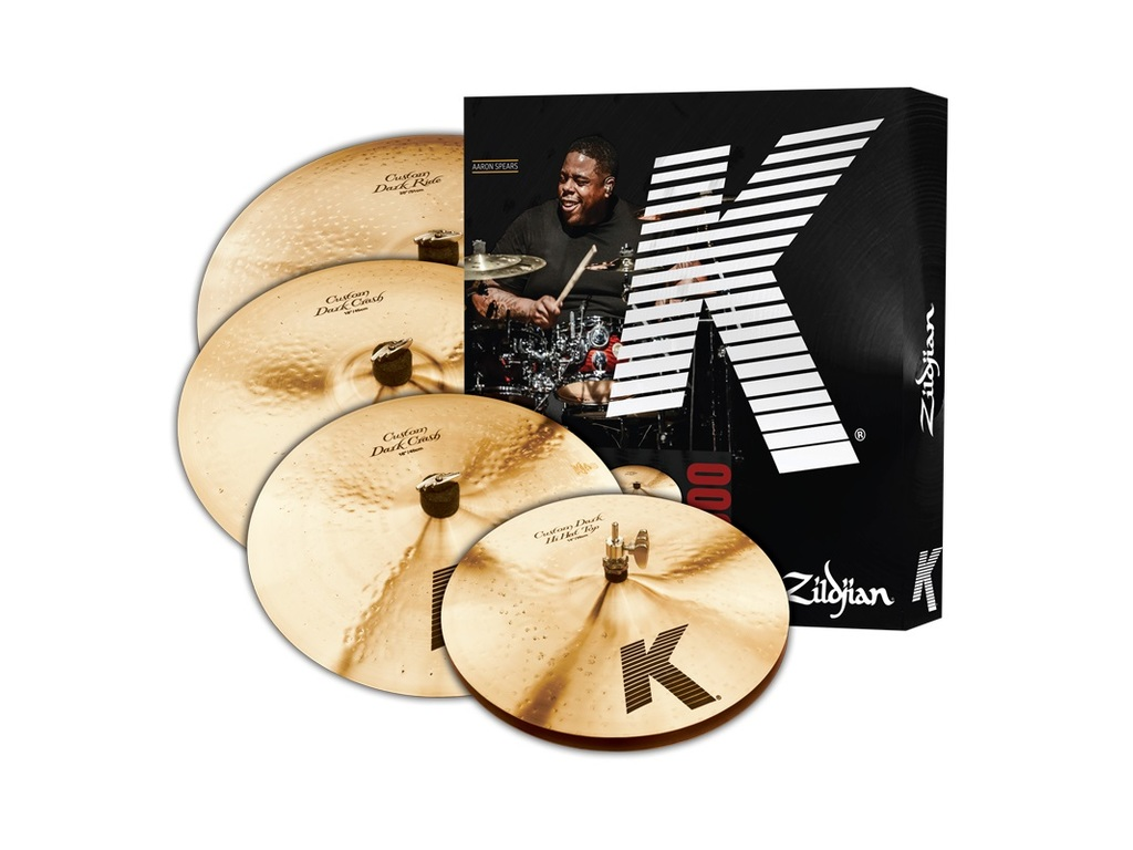 "Cymbal Set Compleet Zildjian KCD900, K Custom Dark, 14"" Hi-hat - 16"" & 18"" Crash -  20"" Ride"