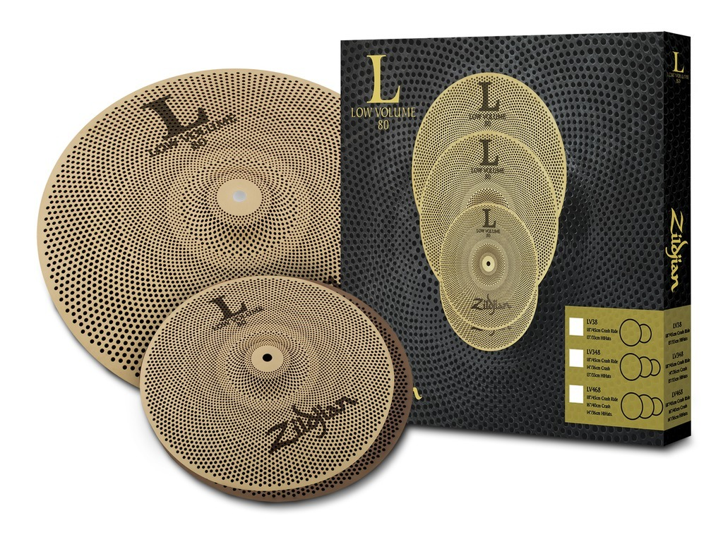 "Cymbal Set Compleet Zildjian LV38, L80 Low Volume, 13"" Hi-hat - 18"" Crash/Ride"