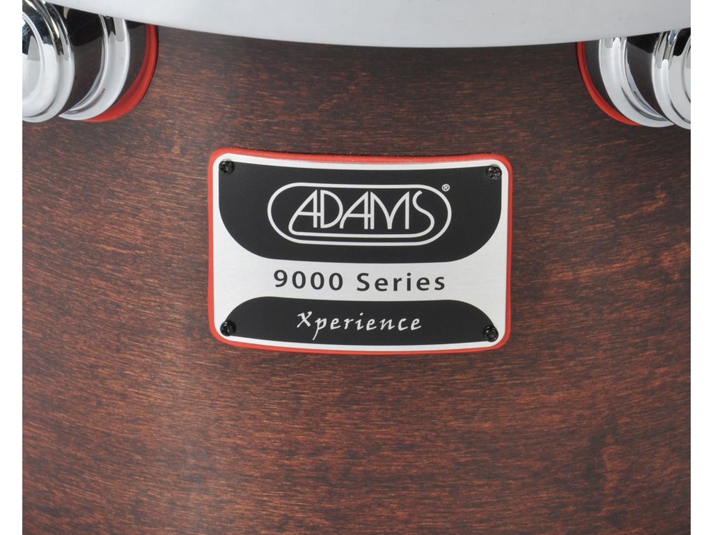 "Concert tom tom Adams 9000 Xperience 12"" x 10"", Walnut Laquer rimsystem without ondervel"
