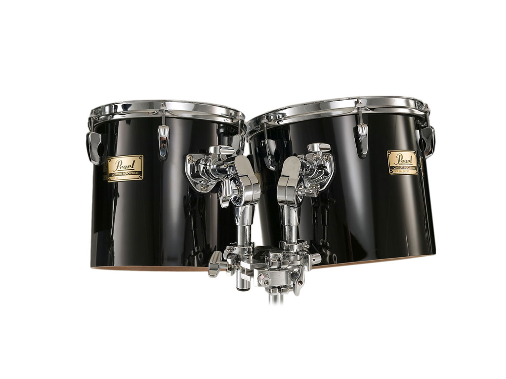 "Concert tom tom Pearl PTE1314, 13x11"" en 14x12"", single head incl. T800W twin tom stand"