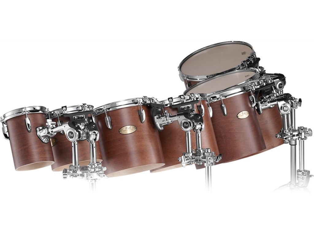"Concert tom tom Pearl PTM1210D, 12x10"" Maple double heads w/OPT"