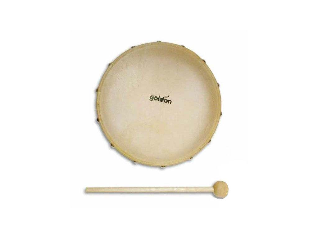 Handdrum Goldon 35350, 25 cm, wooden drum, with beater