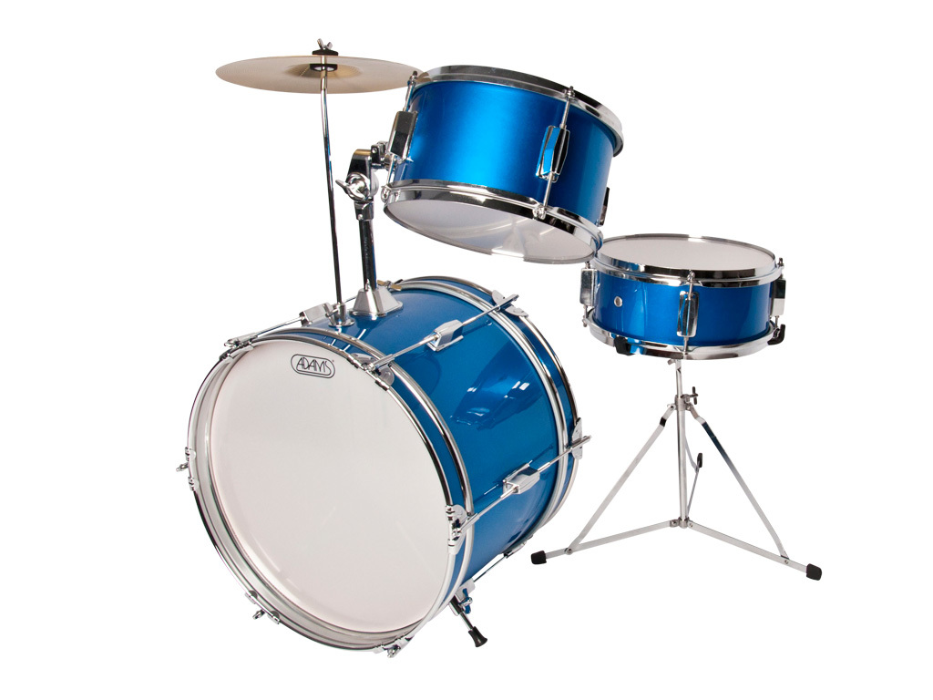 "Drumset Adams Model Kid's wanna have fun, Blue, 16"", 10"", 8"""