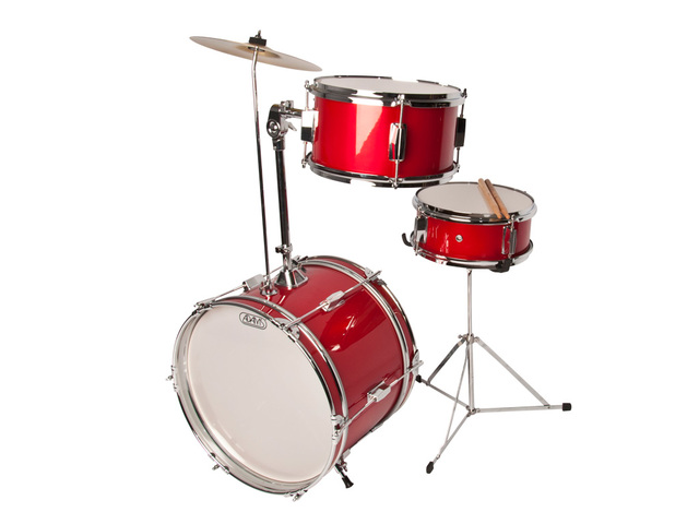 "Drumstel Adams model Kid's wanna have fun, Rood, 16"", 10"", 8"""