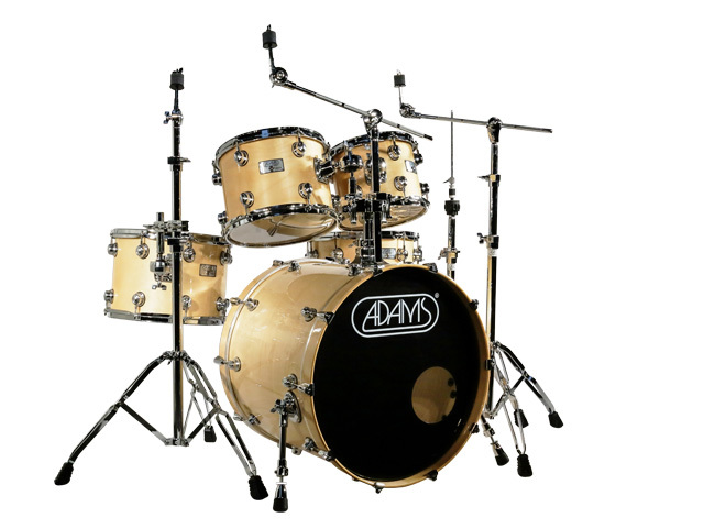 "Drumstel Adams 6000 Essential 22"" Fusion set plywood/berken Chrome hardware, 22"", 10"", 12"", 14"", 14"", Natural"
