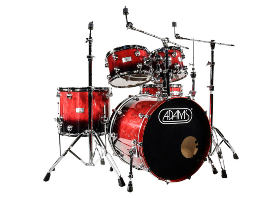 Drumstel Adams 6000 Essential 22 Studio set plywood/berken Chrome hardware  Cranberry Fade