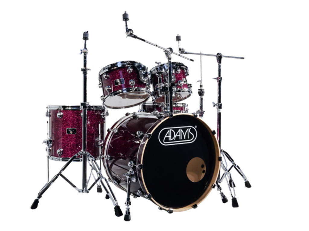 "Drumstel Adams 7000 Vital 22 Studio, 22"", 10"", 12"", 16"", 14"", Chrome Hardware, Purple Sparkle"