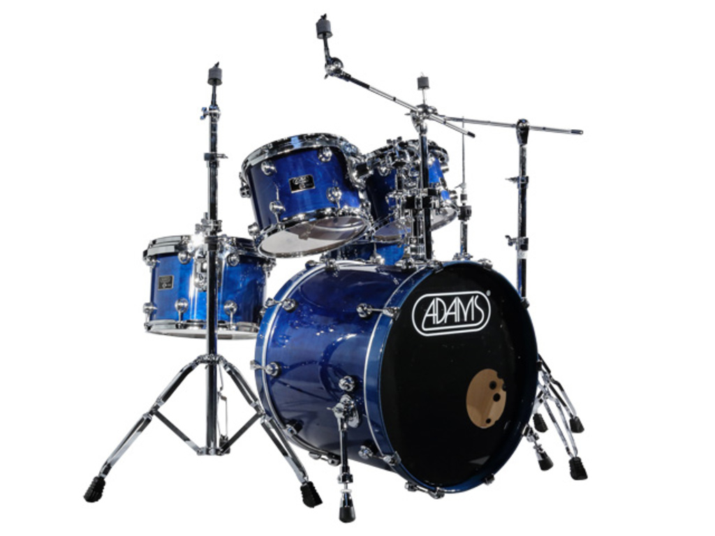 "Drumstel Adams 7000 Vital 22 Fusion, 22"", 10"", 12"", 14"", 14"", Chrome Hardware, Dark Blue"