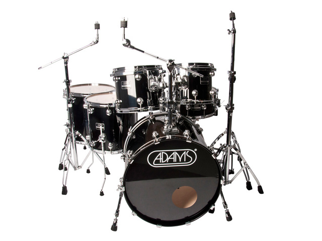 "Drumstel Adams 7000 Vital 22 Rock, 22"", 10"", 12"", 14"", 16"", 14"", Chrome Hardware, Piano Black"