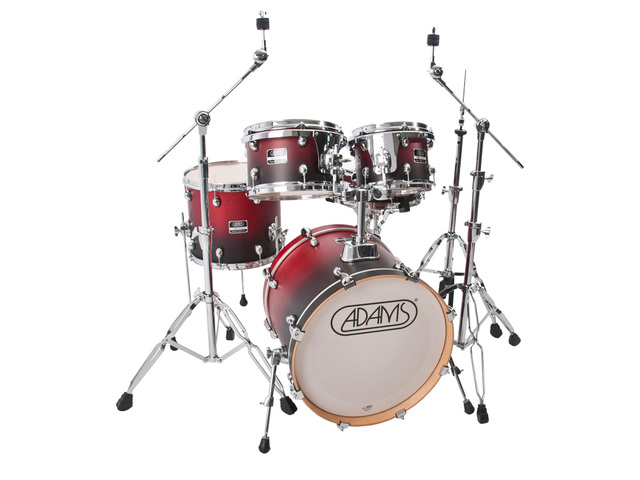 "Drumset Adams 5000 EXP-MC0, Expert Proficiency Studio, Matte Cranberry Fade, 20"", 10"", 12"", 14"", 14"""