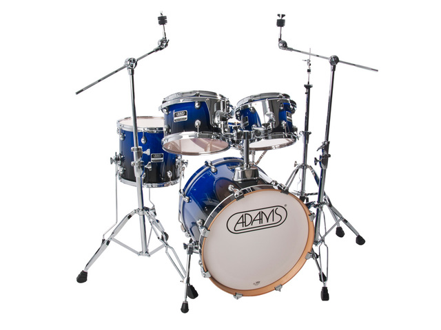 "Drumset Adams 5000 EXP-BB0, Expert Proficiency Studio, Blue to Black Gloss, 20"", 10"", 12"", 14"", 14"""