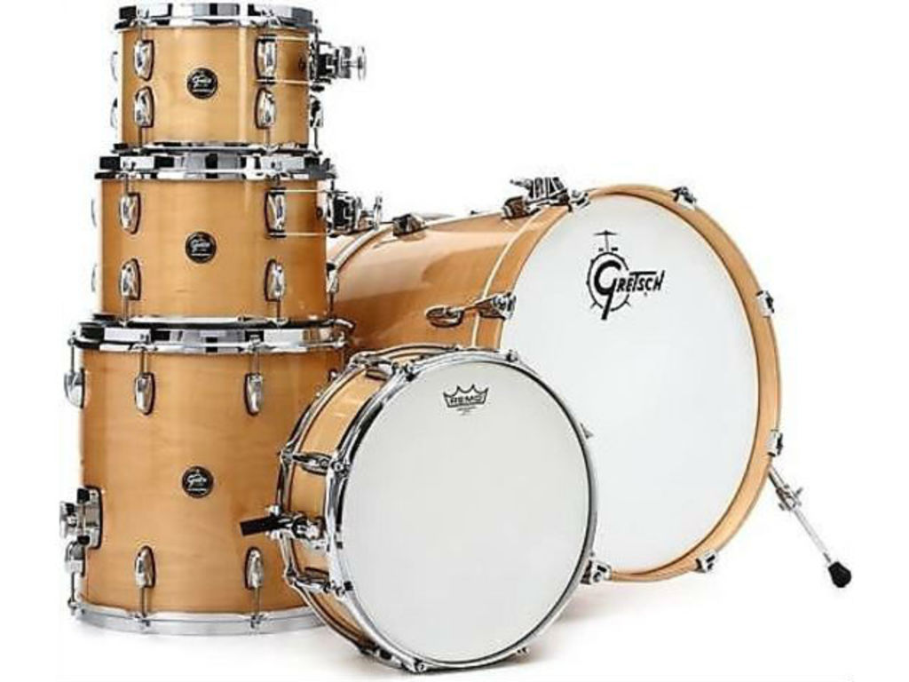 "Shell set Gretsch RN2-E8246, Renown Maple, Gloss Natural, 22"", 10"", 12"", 16"", exclusief hardware"
