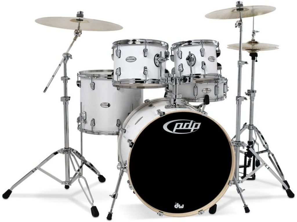 "Drumstel PDP Mainstage 20"" Gloss White, 20"", 10"", 12"", 14"", 14"""