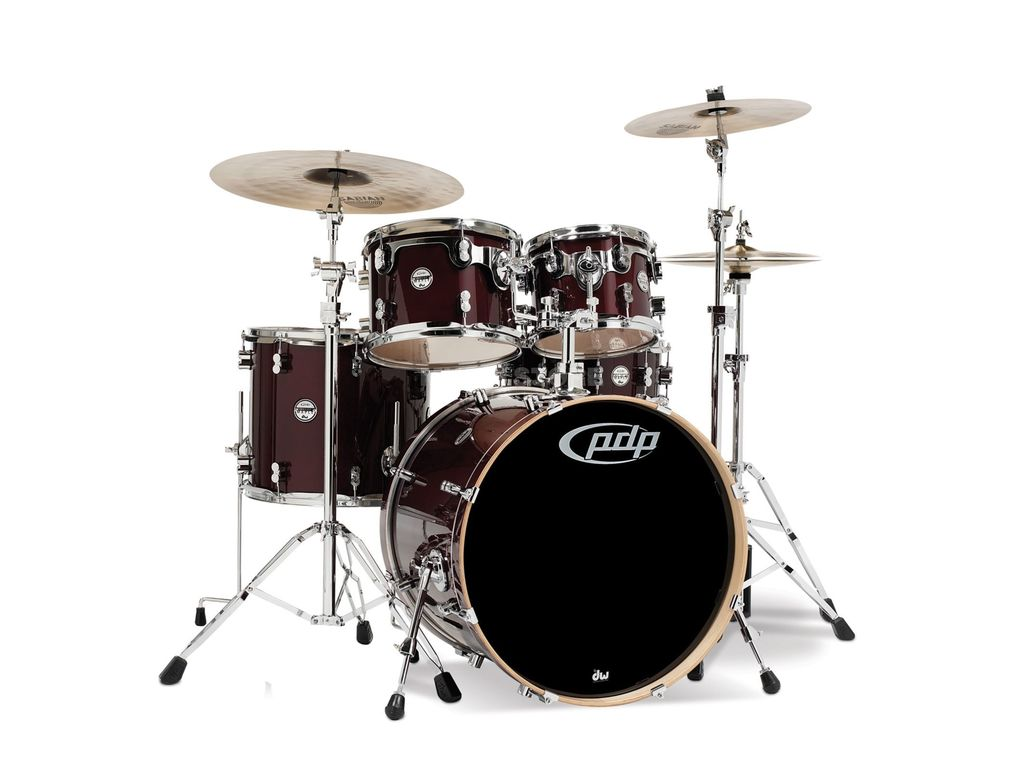 "Drumstel PDP Concept Maple CM5 20"" Transparent Walnut, 20"", 10"", 12"", 14"", 14"""