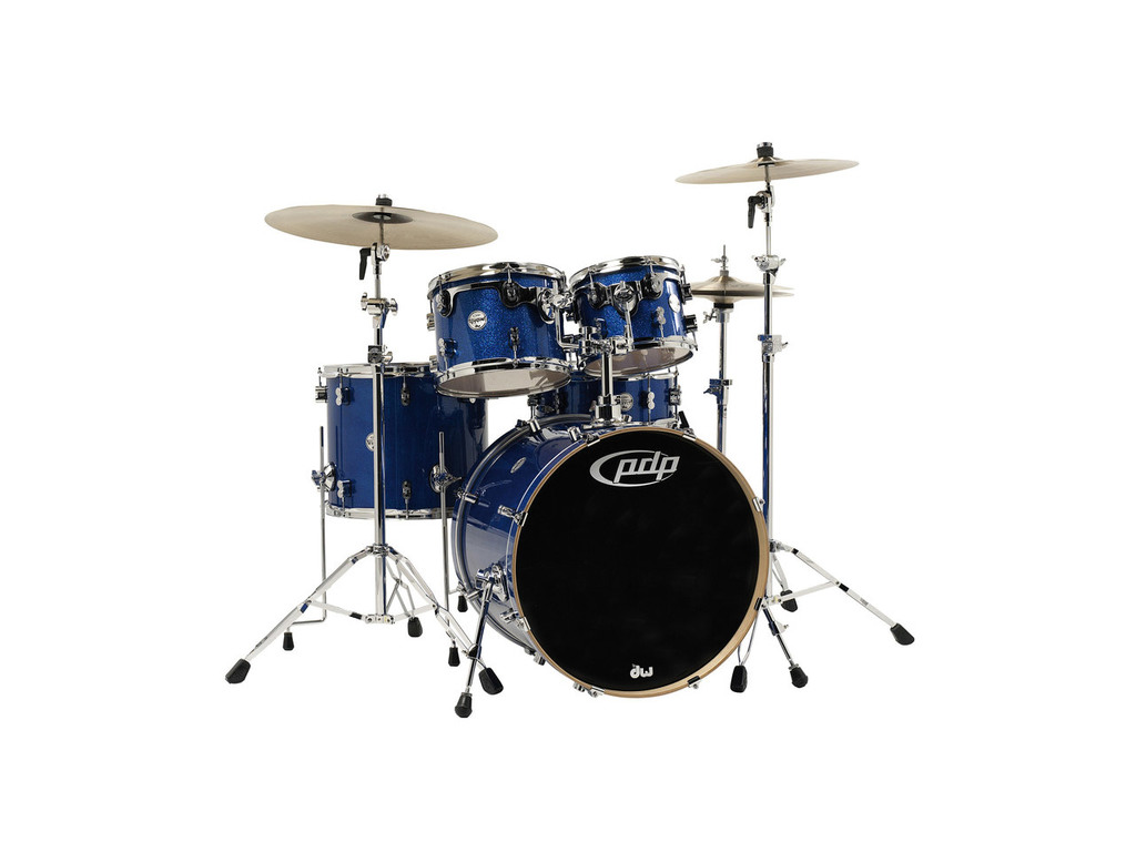 "Drumstel PDP Concept Maple CM5 22"" Blue Sparkle, 22"", 10"", 12"", 16"", 14"""