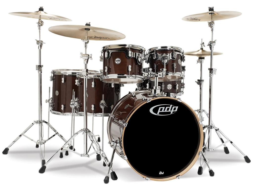 "Drumstel PDP Concept Maple CM6 22"" Transparent Walnut, 22"", 10"", 12"", 14"", 16"", 14"""