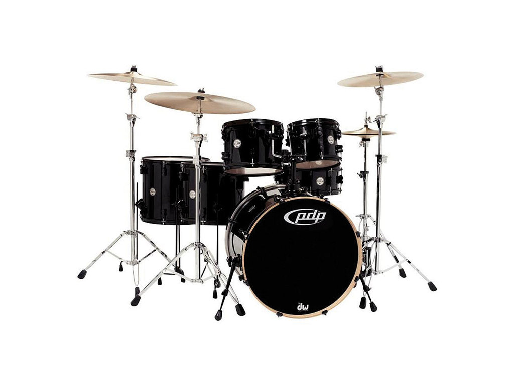 "Drumstel PDP Concept Maple CM6 22"" Pearlescent Black, 22"", 10"", 12"", 14"", 16"", 14"""