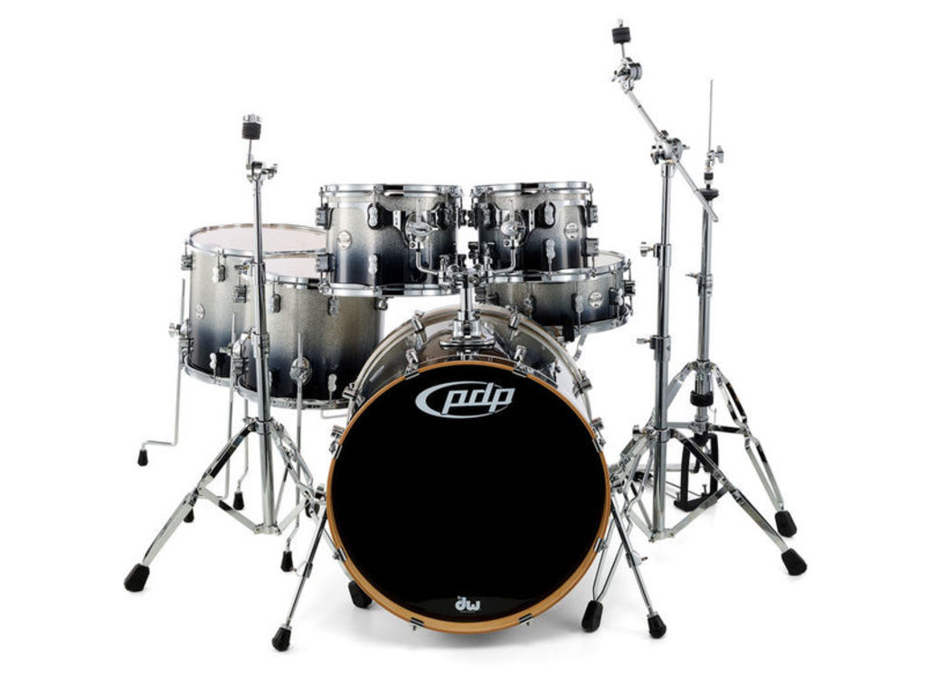 "Drumstel PDP Concept Maple CM6 22"" Silver to Black Sparkle Fade, 22"", 10"", 12"", 14"", 16"", 14"""