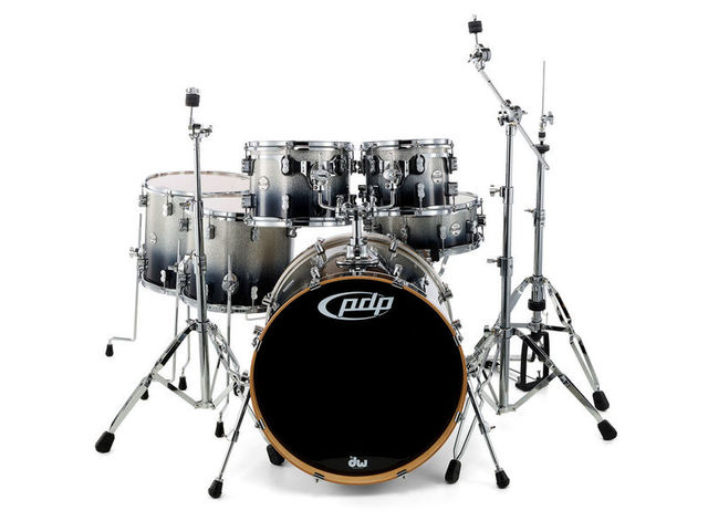 "Schlagzeug PDP Concept Maple CM6 22"" Silver to Black Sparkle Fade, 22"", 10"", 12"", 14"", 16"", 14"""