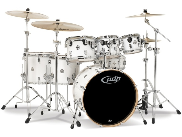 "Drumstel PDP Concept Maple CM7 22"" Pearlescent White, 22"", 8"", 10"", 12"", 14"", 16"", 14"""
