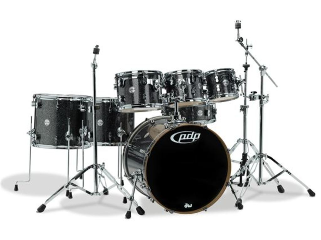 "Drumstel PDP Concept Maple CM7 22"" Black Sparkle, 22"", 8"", 10"", 12"", 14"", 16"", 14"""