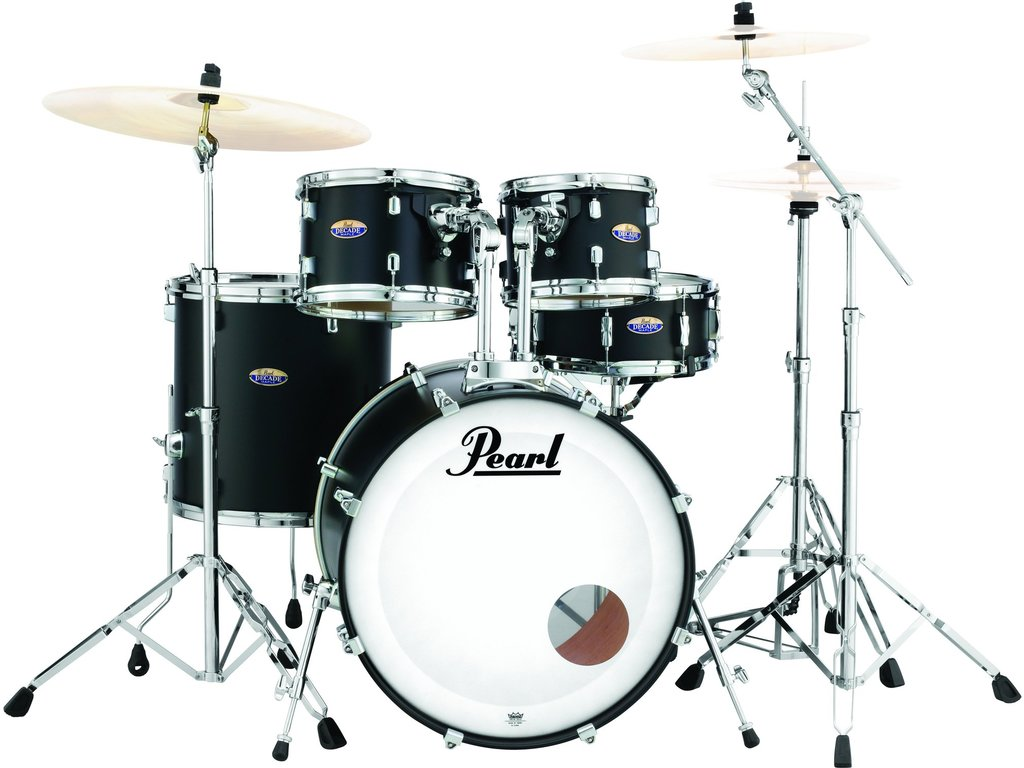 "Drumstel Pearl Decade Maple DMP925S/C227 Satin Slate Black 22"", 10"", 12"", 16"", 14"", inclusief hardware"
