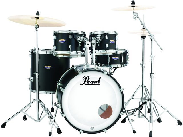 "Drumstel Pearl Decade Maple DMP925FP/C227 Satin Slate Black, 22"", 10"", 12"", 14"", 14"", inclusief hardware"
