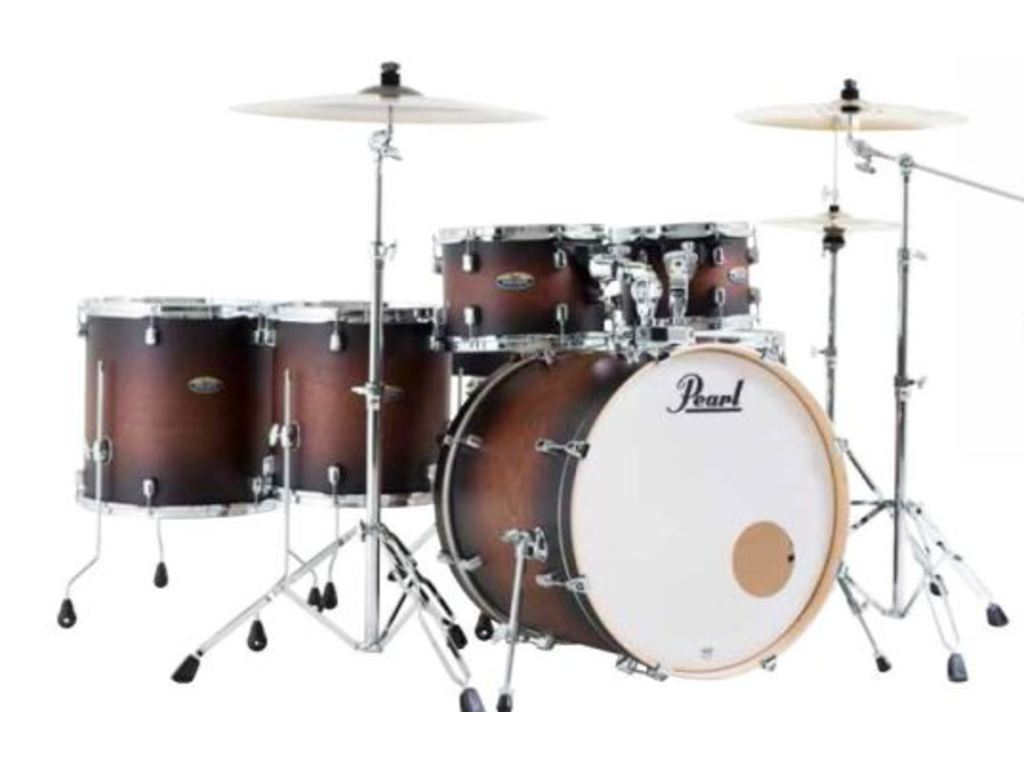 "Drumstel Pearl Decade Maple DMP926S/C260 Satin Brown Burst, 22"", 10"", 12"", 14"", 16"", 14"", inclusief hardware"