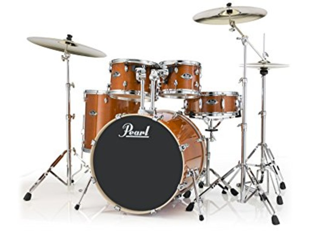 "Drumstel Pearl Export Lacquer EXL705N/C249 Honey Amber, 20"", 10"", 12"", 14"", 14"", studio set, inclusief hardware"