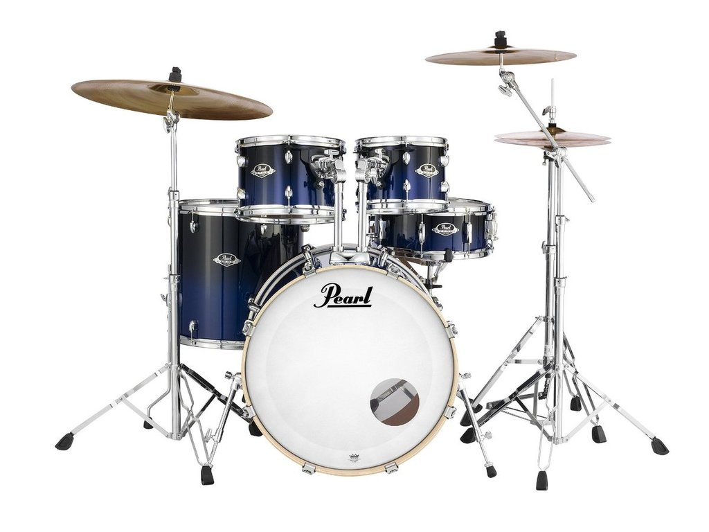 "Drumstel Pearl Export Lacquer EXL725S/C257 Sea Blue Fade, 22"", 10"", 12"", 16"", 14"", inclusief hardware"