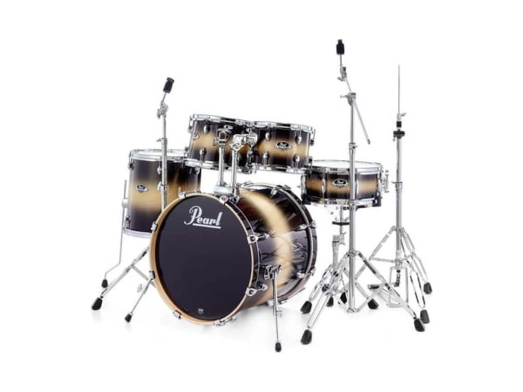 "Drumstel Pearl Export Lacquer EXL725F/C, 22"", 10"", 12"", 14"", 14"", studio set inclusief hardware"