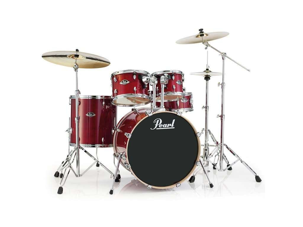 "Drumstel Pearl Export Lacquer EXL725/C246 Natural Cherry, 22"", 12"", 13"", 16"", 14"", studio set, inclusief hardware"
