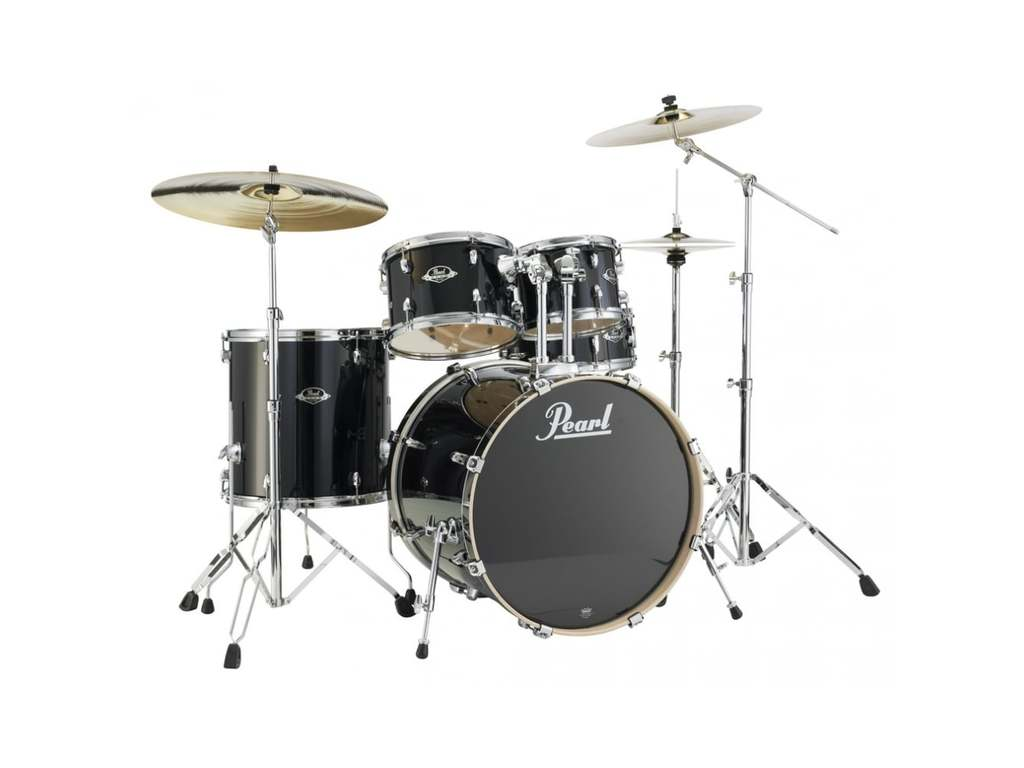 "Drumstel Pearl Export Lacquer EXL725/C248 Black Smoke, 22"", 12"", 13"", 16"", 14"", studio set, inclusief hardware"