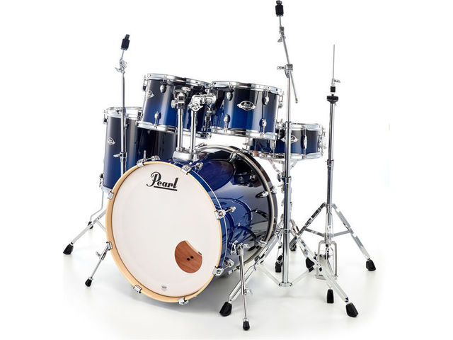 "Drumstel Pearl Export Lacquer EXL725/C257 Sea Blue Fade, 22"", 12"", 13"", 16"", 14"", studio set, inclusief hardware"