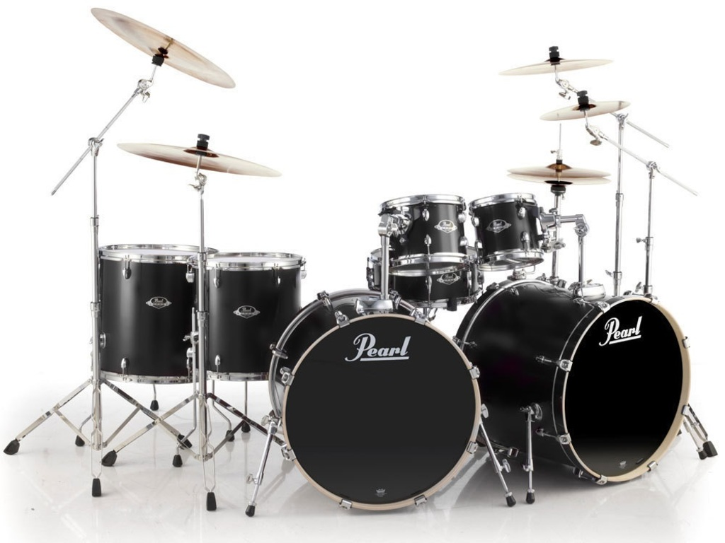 Drumstel Pearl EXL 727/C256 Double Bass 7delig limited edtion Set Matt Satin Black
