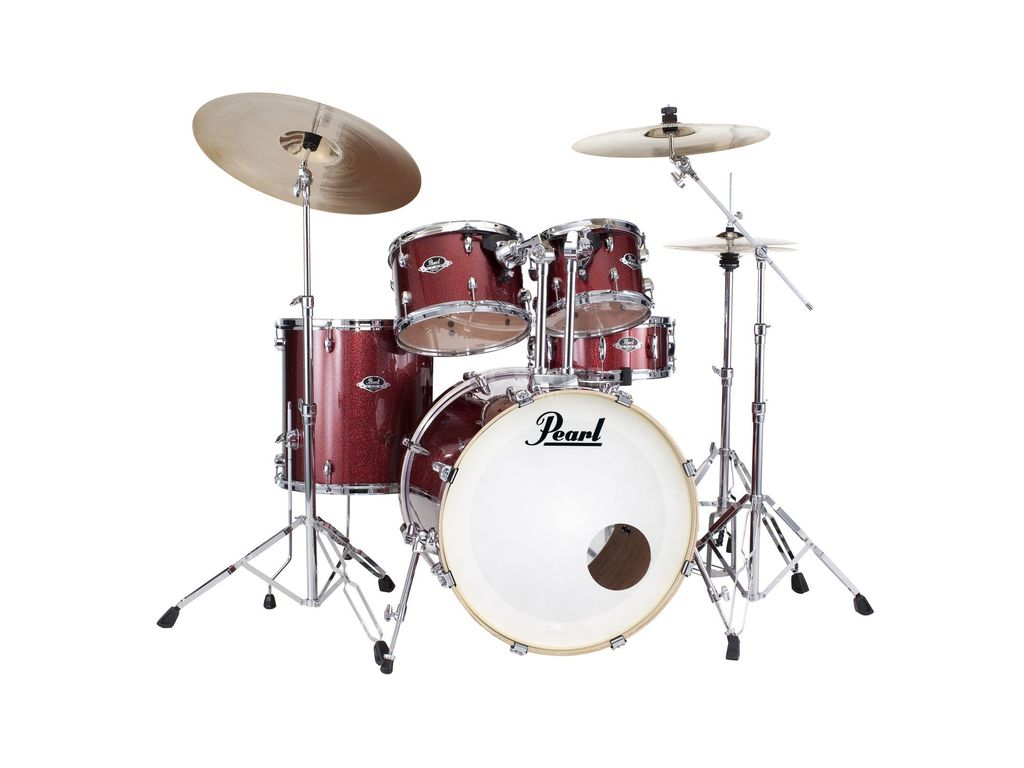 "Drumset Pearl Export EXX705NBR/C, 20"", 10"", 12"", 14"", 14"", studio set, including hardware and Cymbals"