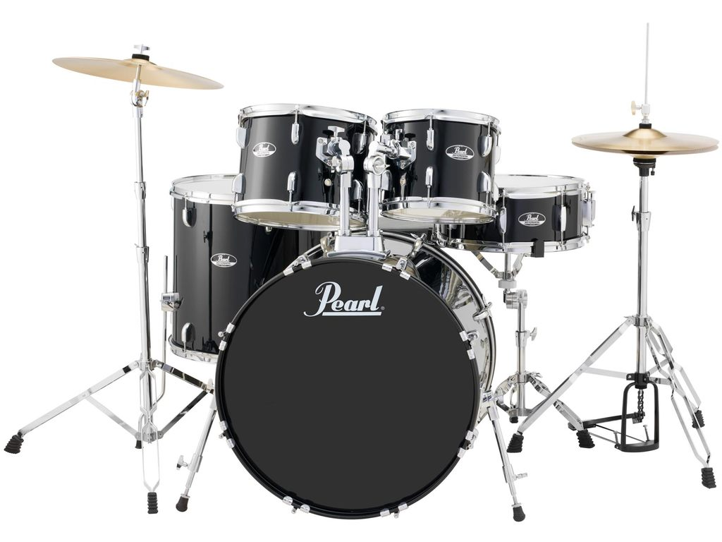 "Drumstel Pearl Roadshow RS585C/C31 Jet Black, 18"", 10"", 12"", 14"", 13"", set inclusief hardware en Cymbals"