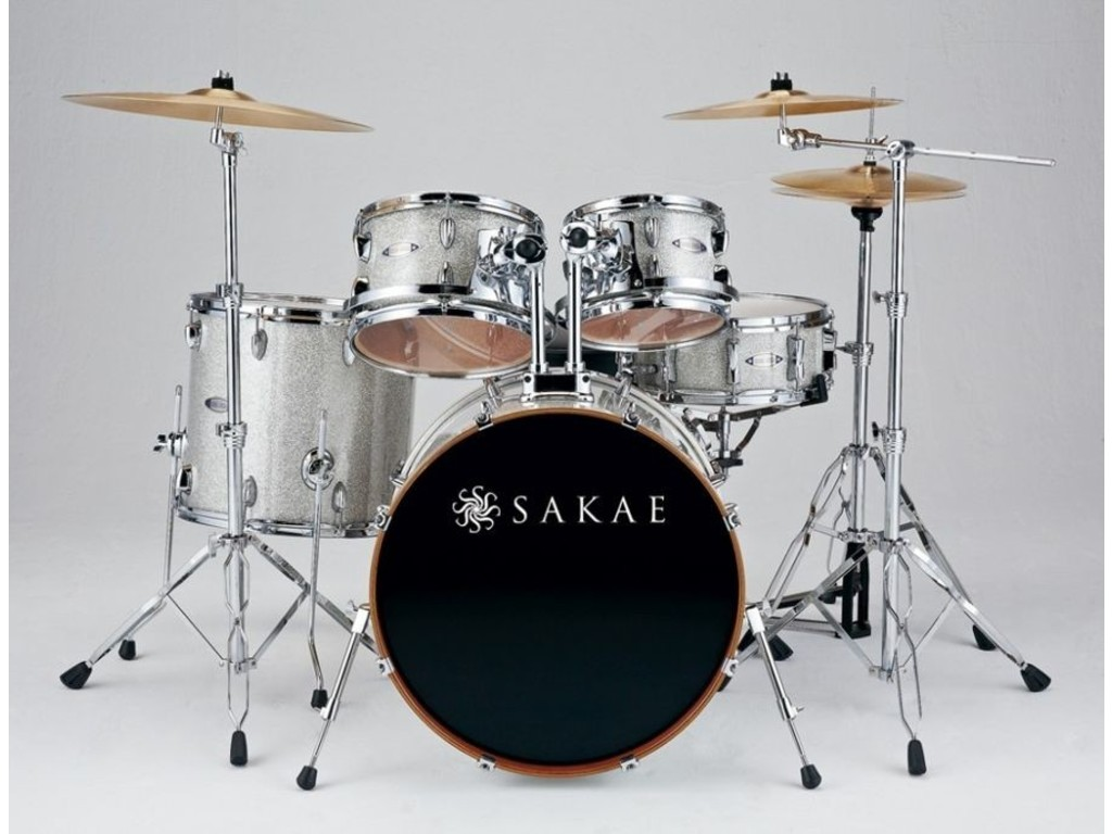 "Drumstel Sakae Road Anew Silver Sparkle, 22"", 10"", 12"", 16"", 14"", inclusief hardware"