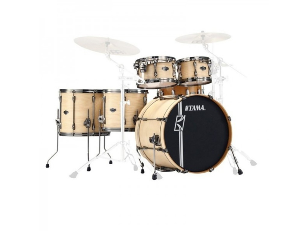 "Drumstel Tama Superstar Custom Hyperdrive ML62HZBNSA-MNW, Matte Naturel White Ash, 22"", 10"", 12"", 14"", 16"", 14"""