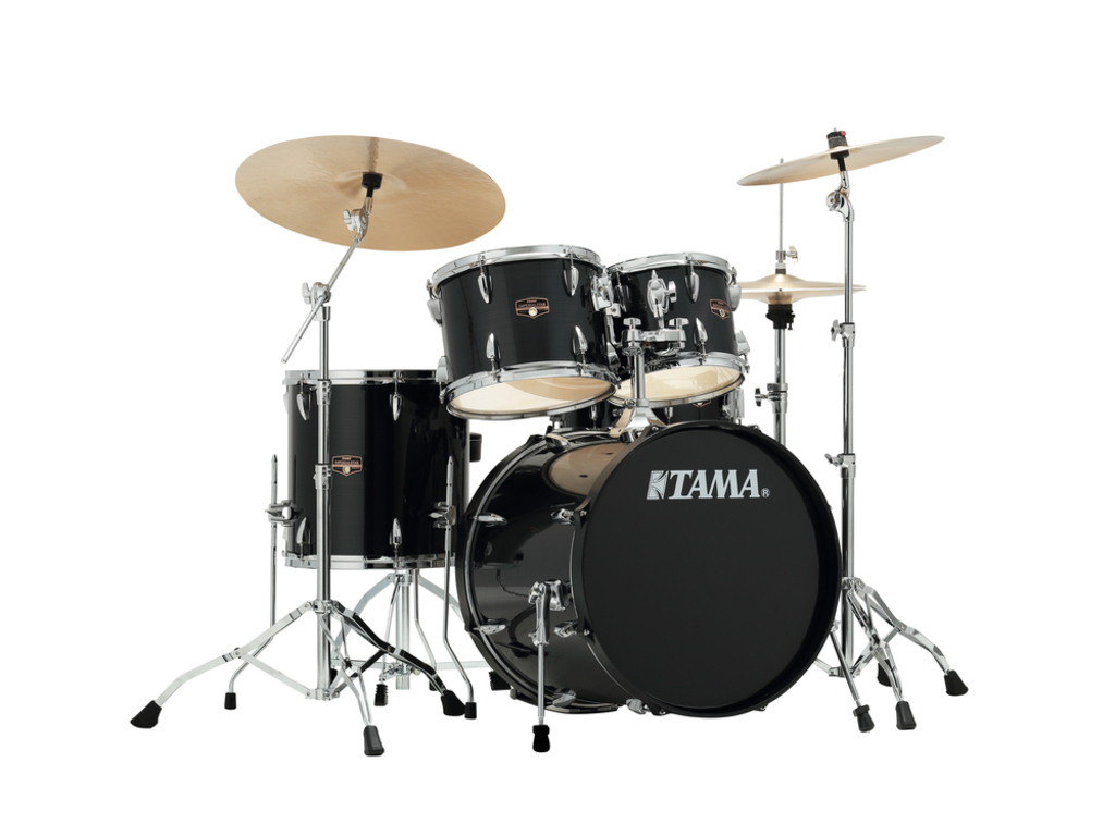 "Drumstel Tama Imperialstar IP50H6N-HBK Hairline Black, 20"", 10"", 12"", 14"", 14"", inclusief hardware"
