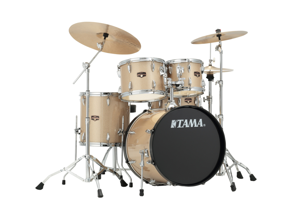 "Drumstel Tama Imperialstar IP50H6N-CHM Champagne Mist, 20"", 10"", 12"", 14"", 14"", inclusief hardware"