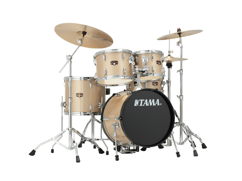 "Drumstel Tama Imperialstar IP58H6N-CHM Champagne Mist, 18"", 10"", 12"", 14"", 13"", inclusief hardware"