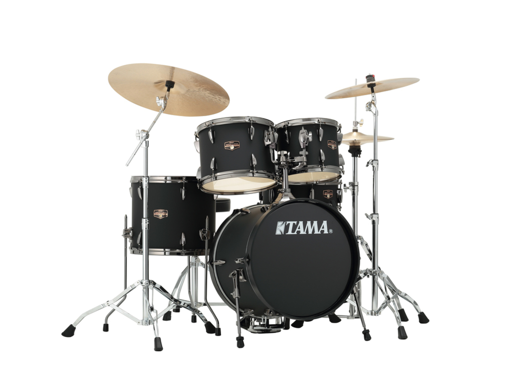 "Drumstel Tama Imperialstar IP58H6N-BBOB Blacked Out Black, 18"", 10"", 12"", 14"", 13"", inclusief hardware"