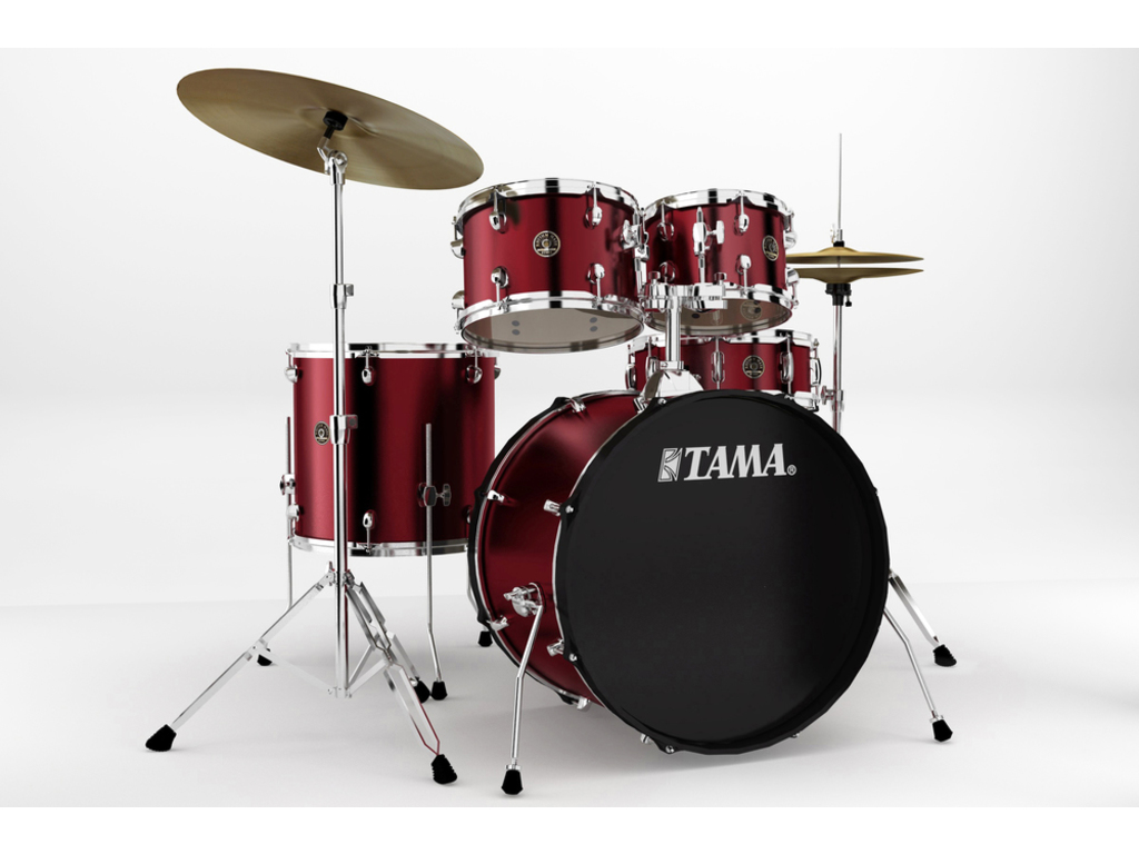 "Drumstel Tama Rhythm Mate RM52KH4-WR Wine Red, 22"", 10"", 12"", 16"", 14"", inclusief hardware"