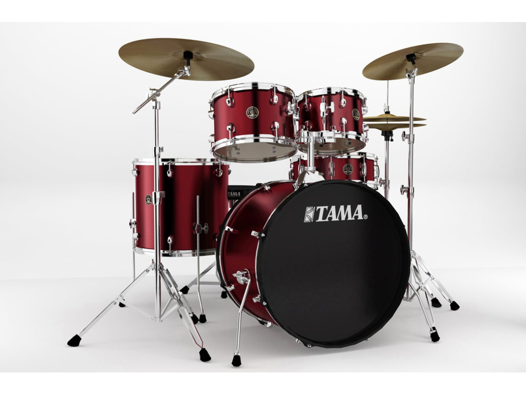 "Drumstel Tama Rhythm Mate RM52KH6-WR Wine Red, 22"", 10"", 12"", 16"", 14"", inclusief hardware, extra kruk en boomstand"