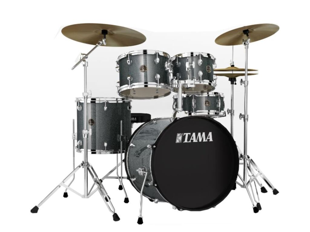 "Drumstel Tama Rhythm Mate RM52KH6-GXS Galaxy Silver, 22"", 10"", 12"", 16"", 14"", inclusief hardware, extra kruk en boomstand"