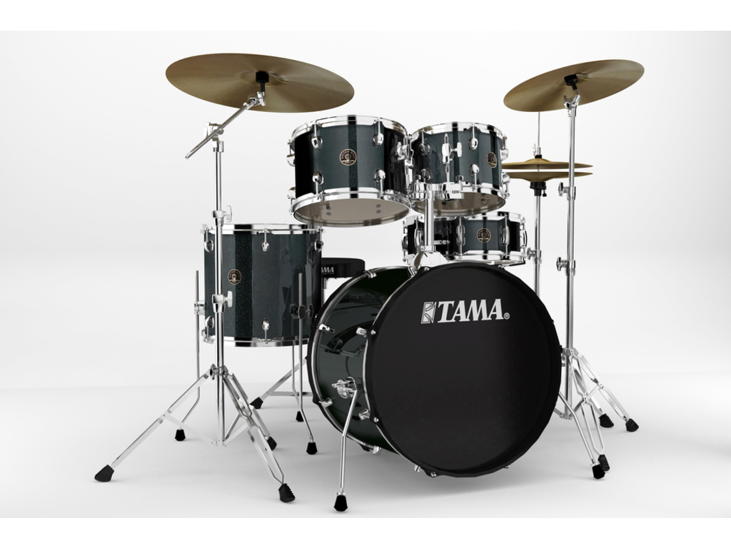 "Drumstel Tama Rhythm Mate RM50YH6-CCM Charcoal Mist, 20"", 10"", 12"", 14"", 14"", inclusief hardware, extra kruk en boomstand"