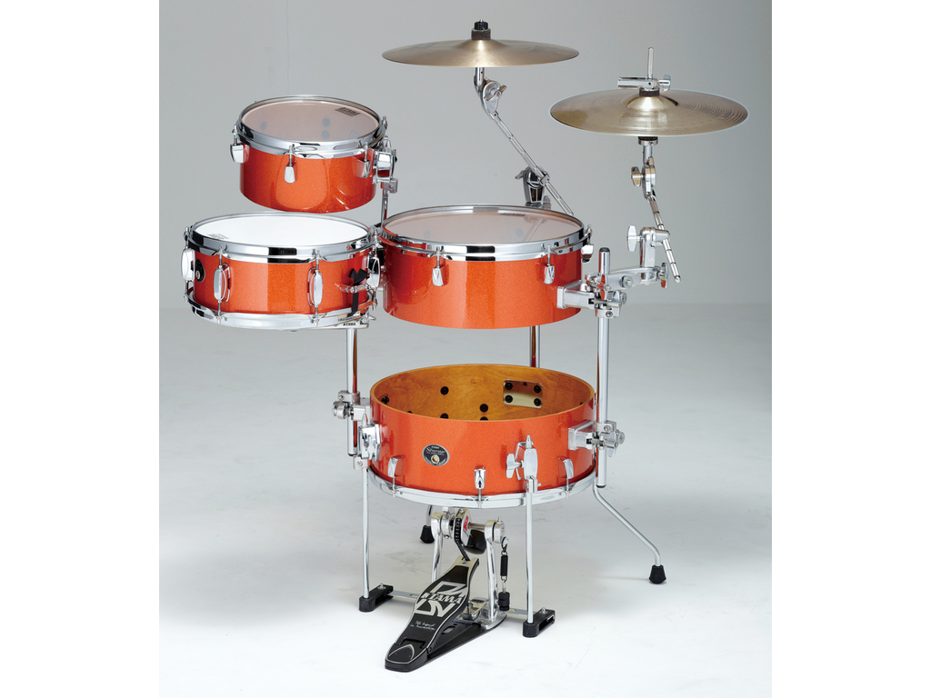 "Drumstel Tama Silverstar VD46CBN-BOS Bright Orange Sparkle, 16"", 10"", 14"", 12"", Cocktail JAM"