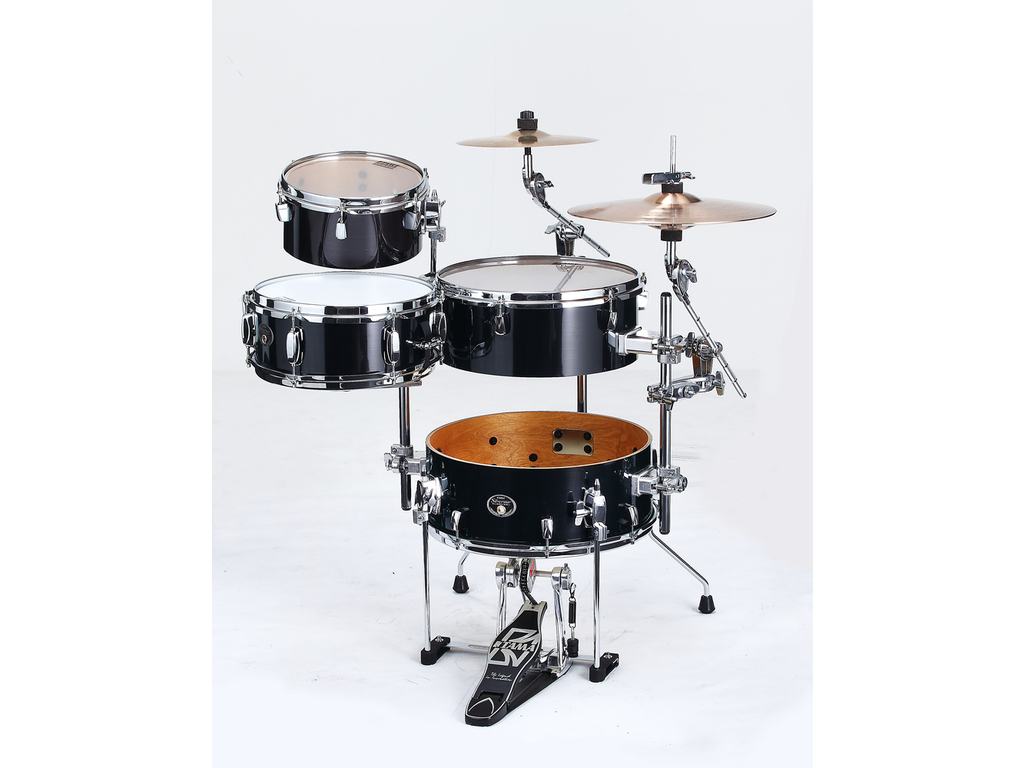 "Drumstel Tama Silverstar VD46CBN-BCB Brushed Charcoal Black, 16"", 10"", 14"", 12"", Cocktail JAM"