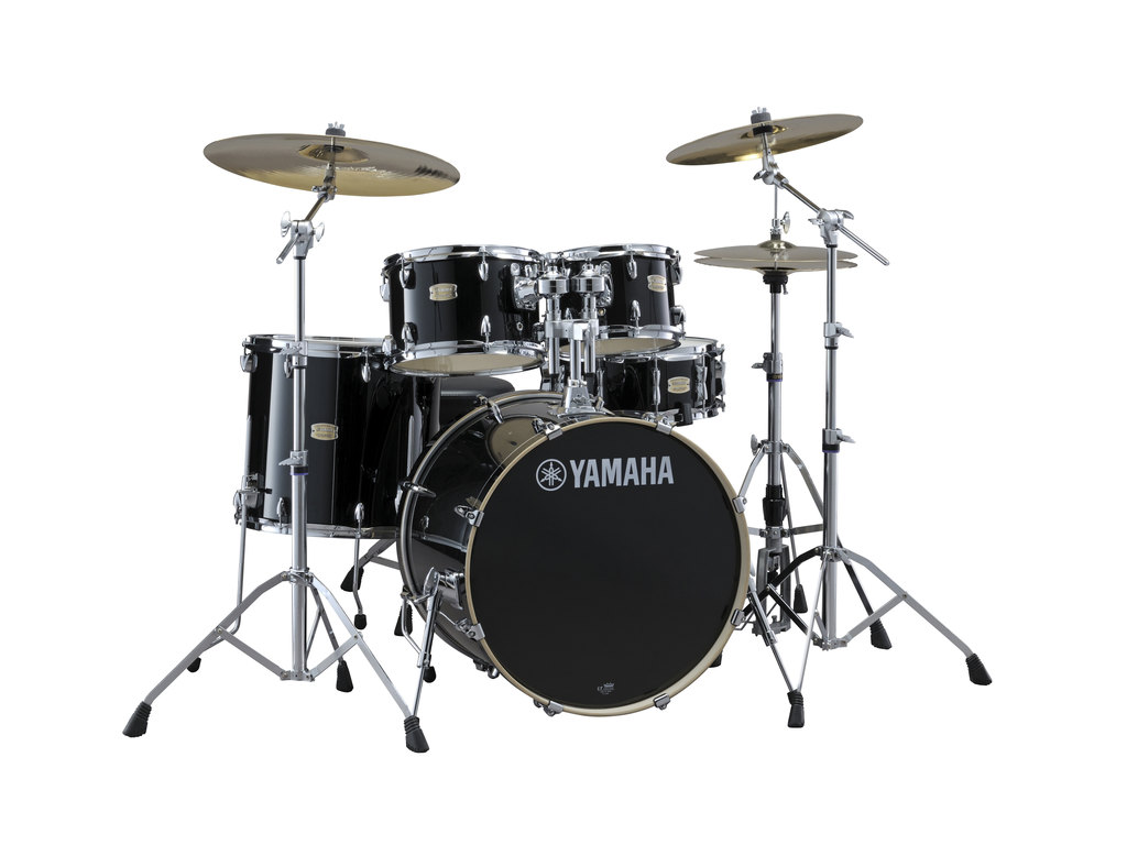 "Drumstel Yamaha Stage Custom Birch SBP2F5RBL6W Raven Black, 22"", 10"", 12"", 16"", 14"" , Inclusief hardware"